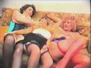 Huge-chested Pat Wynn AKA (Auntie Jane), Millie Minchen and a friends