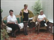 Vintage Unwrapping from 3 Mature Village Ladies