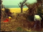 Milky doll on African beach vintage