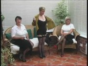 Vintage Undressing from three Mature Village Ladies
