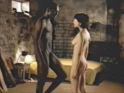 Brown-haired white female with dark-hued lover – Erotic Interracial