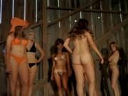 Femmes disrobing on stage 1972