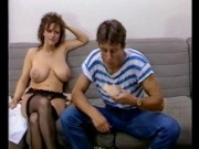 Slender chick with massive melons vintage movie