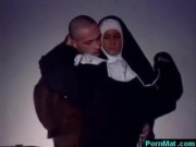 Mischievous German nun humping church guy