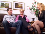 OLD GERMAN COUPLE PENETRATE IN FRONT OF MATURE NEIGHBOUR WOMAN